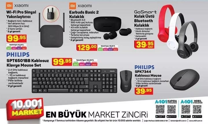 1 Temmuz A101 aktüel teknoloji ürünleri
