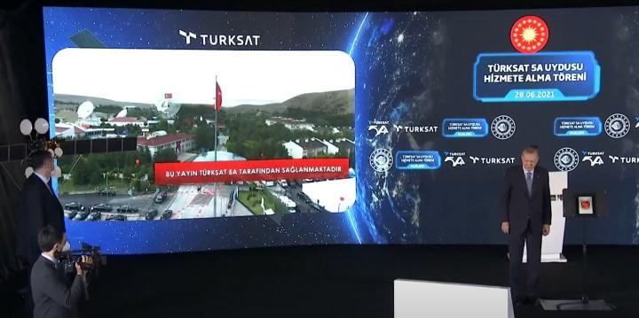türksat 5a ile yapılan ilk yayın