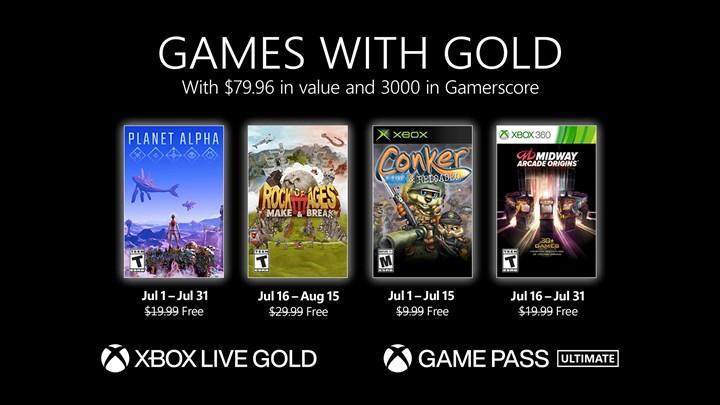 Xbox Live Gold temmuz 2021 oyunları açıklandı