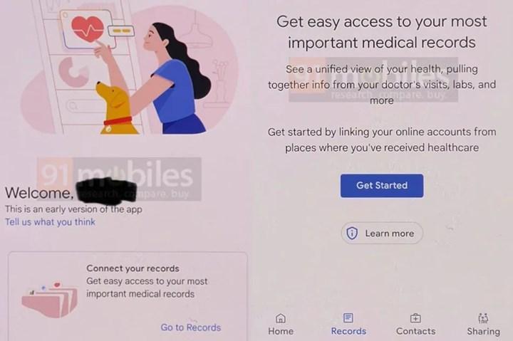 Google Sağlık uygulaması geliştirilme aşamasında