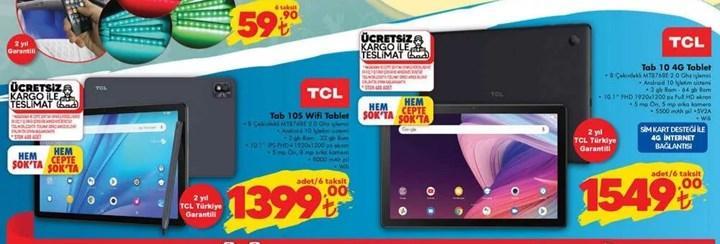 ŞOK marketlerde TCL tabletler var