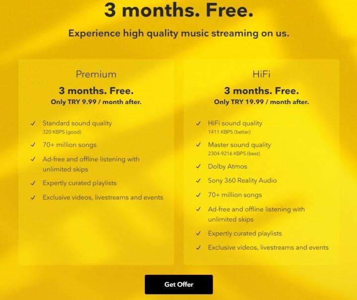 Tidal HiFi 3 ay ücretsiz deneme