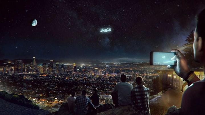 Reklamlar artık uzaydan gösterilmeye başlanacak
