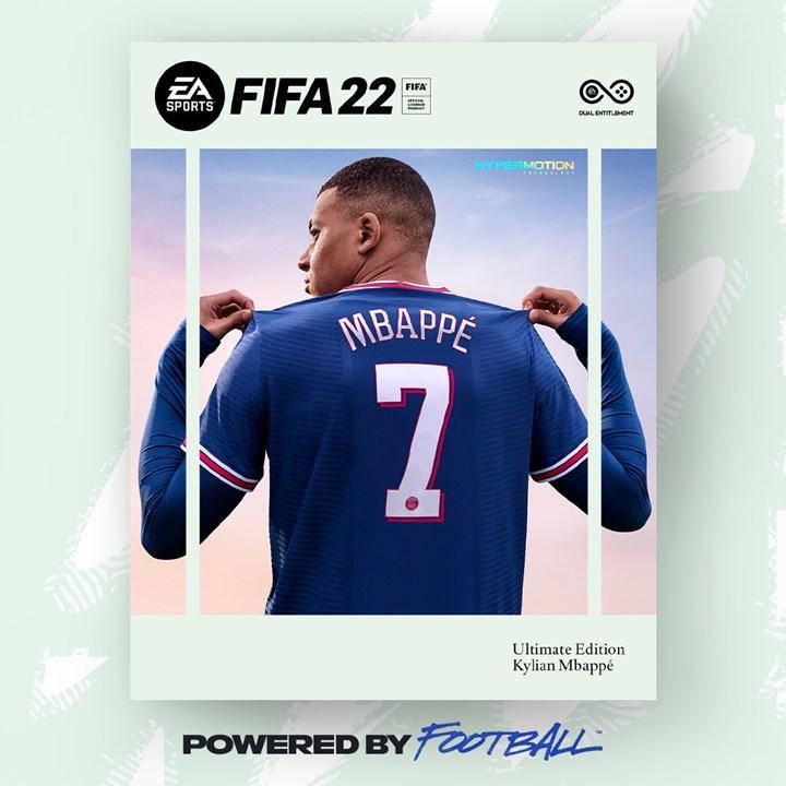 FIFA 22'nin kapak yıldızı Kylian Mbappé oldu