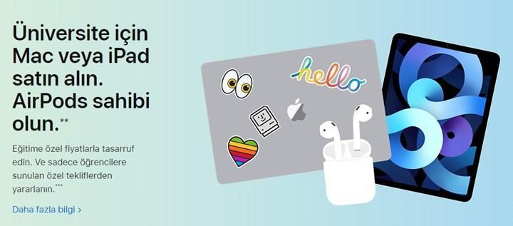 iPad veya Mac alana, AirPods hediye