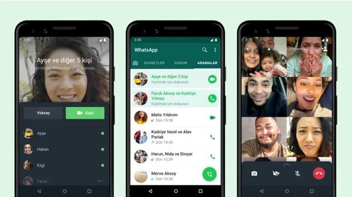 WhatsApp katılıma açık aramalar