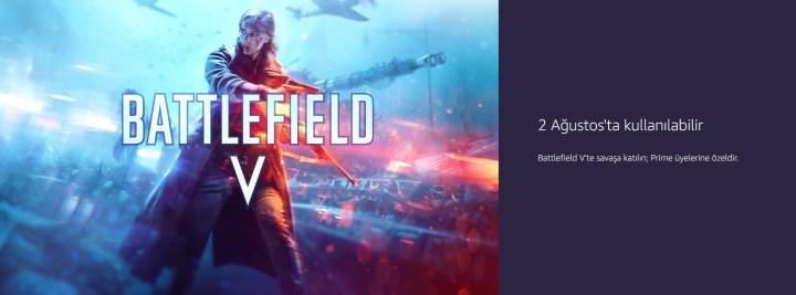 Amazon Prime Gaming'te Battlefield 1 ve Battlefield V ücretsiz