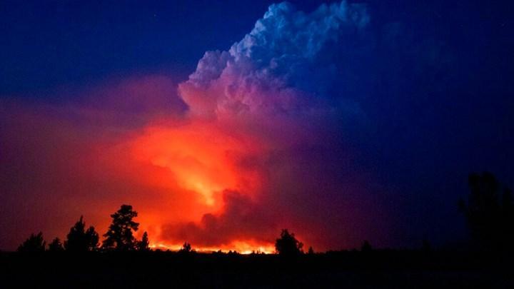 Orman yangınları Güneş'i ve Ay'ı kırmızıya çeviriyor