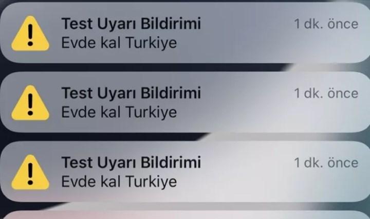 Bugün iPhone kullanıcılarına 'Evde Kal Türkiye' bildirimi geldi