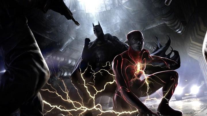 The Flash setinden Batman'li görüntüler