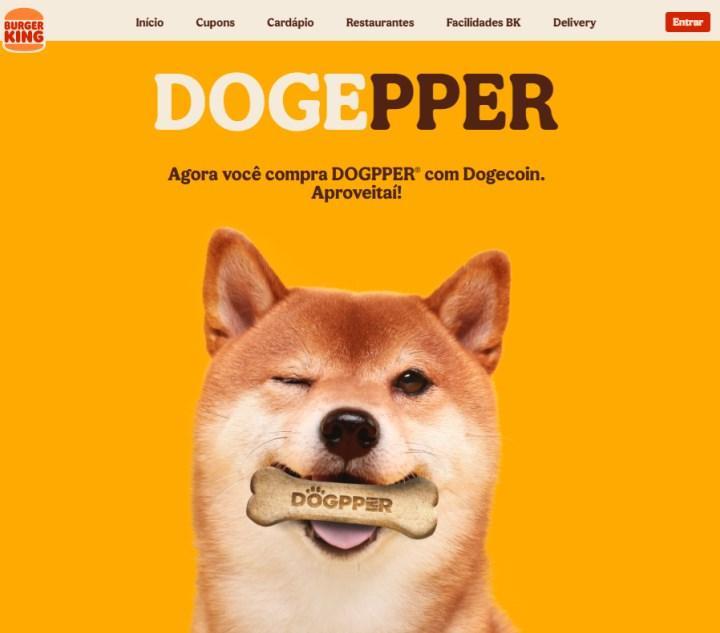 Burger King, Brezilya'da Dogecoin ile ödeme alacak