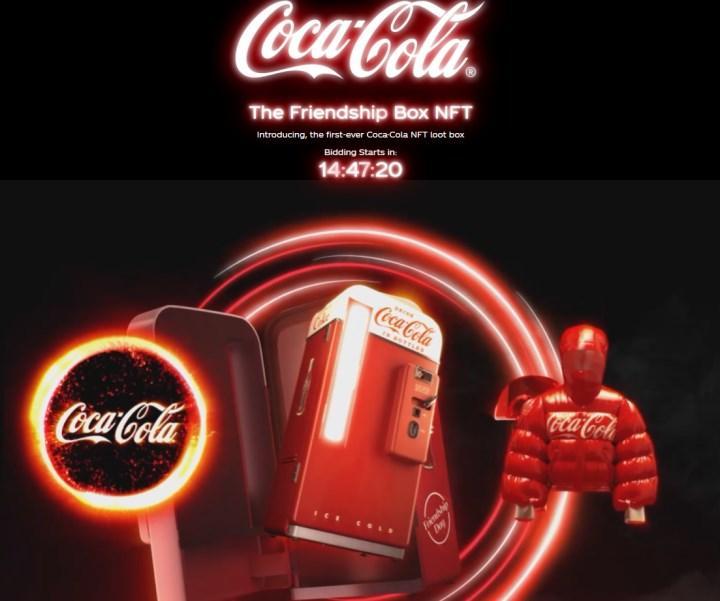 Coca-Cola, ilk NFT'lerini açık artırmaya çıkarıyor