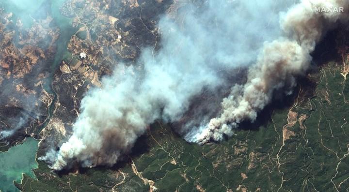 Yangınların uzaydan çekilen dehşet verici görüntüleri paylaşıldı