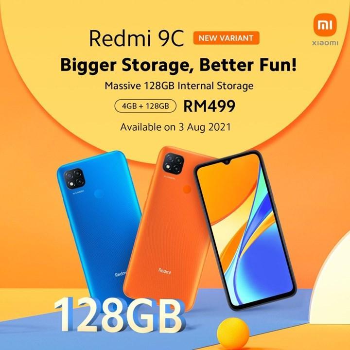 Xiaomi Redmi 9C'nin 4 GB + 128 GB'lık versiyonu çıktı