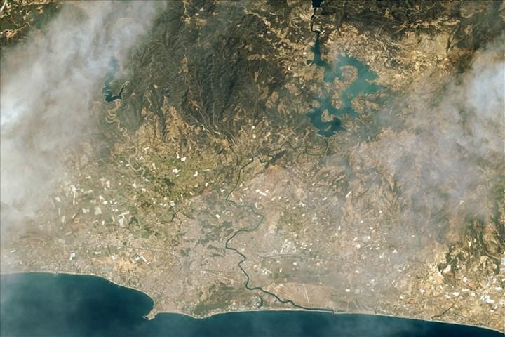 Göktürk-1 ve Göktürk-2 uyduları orman yangınlarını görüntüledi
