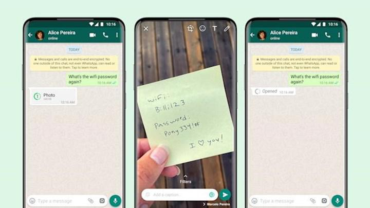WhatsApp, Twitter hesabından 'view once' özelliğini duyurdu
