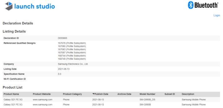 Samsung Galaxy S21 FE için geri sayım başladı
