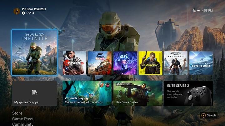 Xbox Series X'in kullanıcı arayüzü 4K oluyor