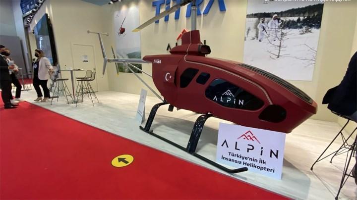 ALPİN insansız helikopter modeli IDEF 21'de tanıtıldı