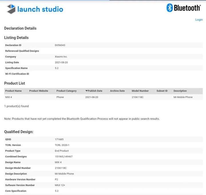 Xiaomi Mi Mix 4 tüm dünyada satışa çıkıyor