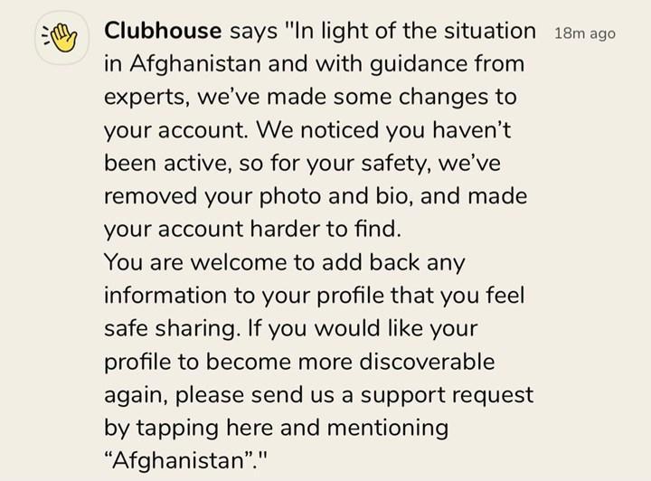 Clubhouse koruma moduna geçti