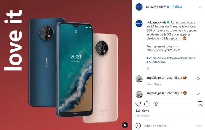 Nokia G50 5G'nin görüntüsü ortaya çıktı