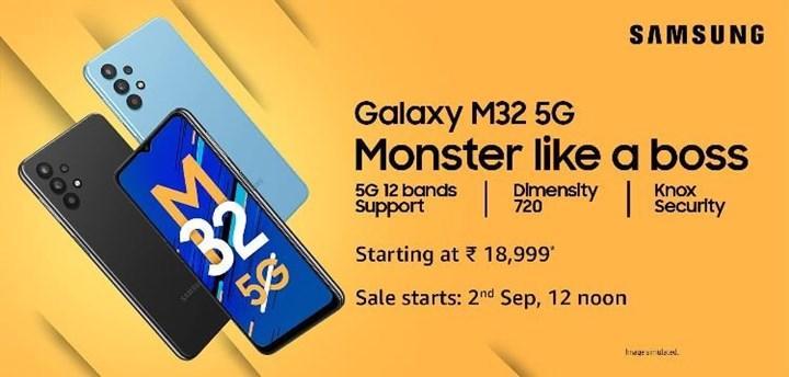 Samsung, Dimensity 720 işlemcili Galaxy M32 5G'yi tanıttı