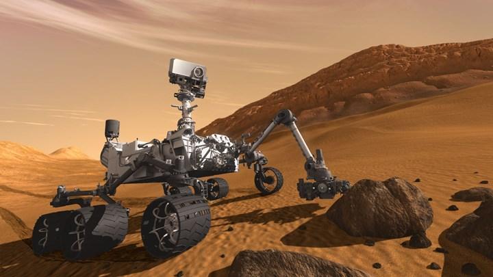 NASA'nın gönderdiği Curiosity, Mars'ta yeni görüntüler yakaladı