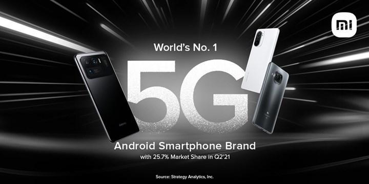 Xiaomi, 5G destekli Android akıllı telefon satışlarında birinci