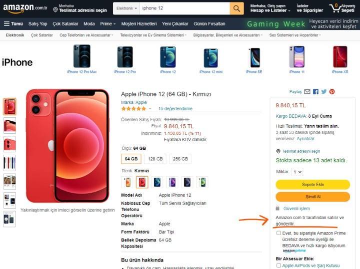 Amazon.com.tr tüm Apple ürünlerini satmaya başladı