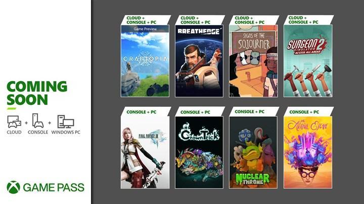 Eylül 2021'in ilk yarısında Xbox Game Pass'e eklenecek oyunlar