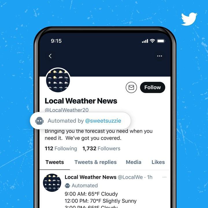 Twitter, bot hesaplar hakkında kullanıcıları bilgilendirecek