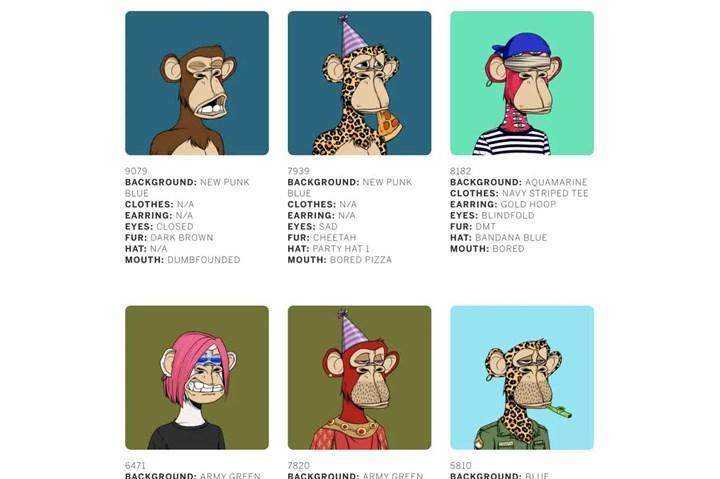 Maymunların olduğu NFT koleksiyonu, 24,4 milyon dolara satıldı