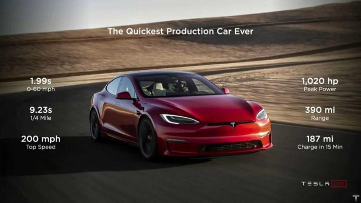Model S Plaid Özellikler