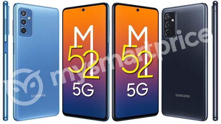 Samsung Galaxy M52 5G'nin teknik özellikleri sızdı