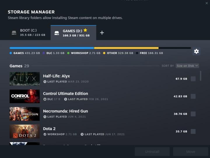 Steam'in yeni güncellemesi yeni indirme sayfası sunuyor