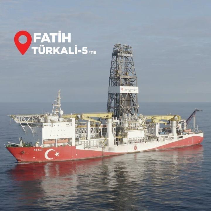 Fatih Sondaj Gemisi, Türkali-5'te sondaja başladı