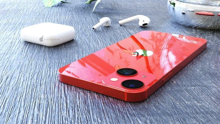 iPhone 13 mini'nin CAD çizimlerini baz alan fotoğraflar