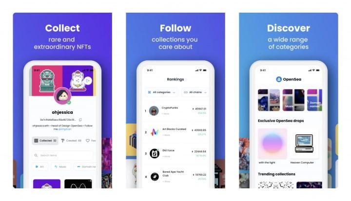 Popüler NFT pazaryeri OpenSea'nin mobil uygulaması çıktı