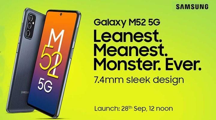120Hz ekranlı Samsung Galaxy M52 5G'nin çıkış tarihi belli oldu