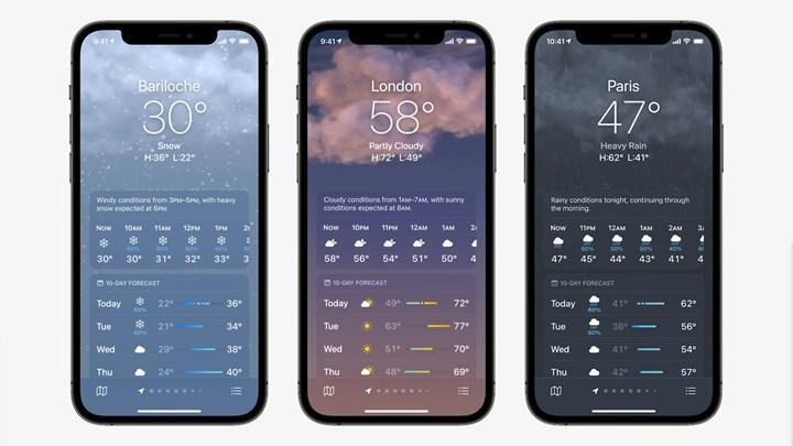iOS 15 hava durumu