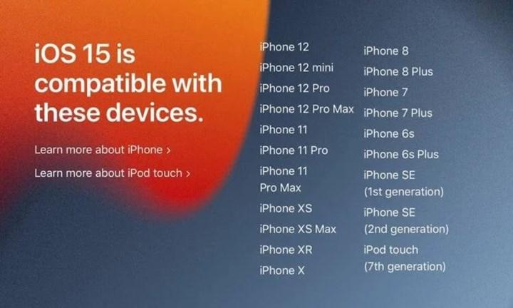 iOS 15 alacak iPhone ve iPad modelleri açıklandı