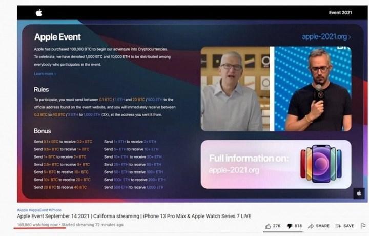 iPhone 13'ün sahte lansmanı, dolandırıcılara 69 bin dolar kazandı