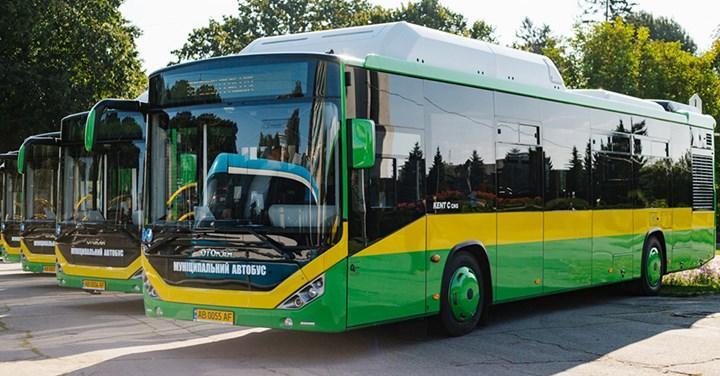 Otokar'dan Ukrayna'ya 10 adet doğalgazlı otobüs teslimatı
