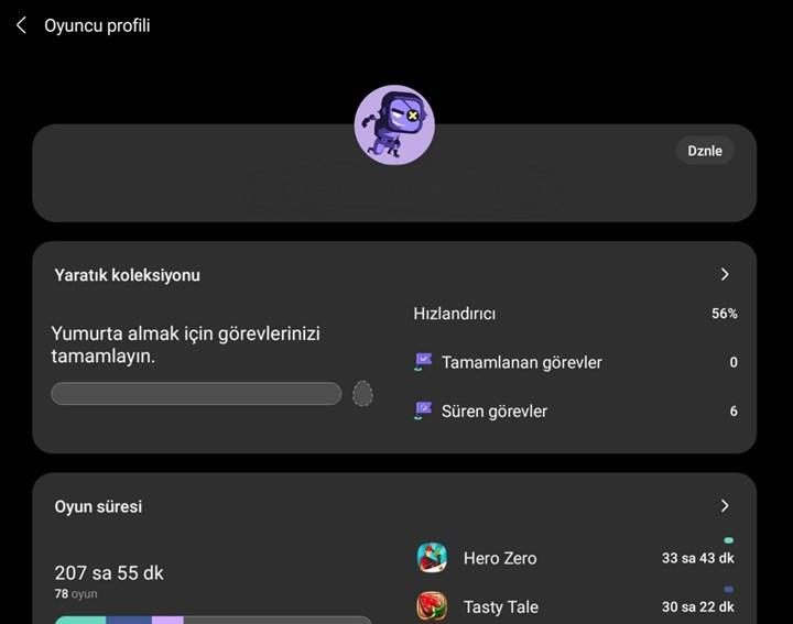 Samsung Game Launcher güncellemesi