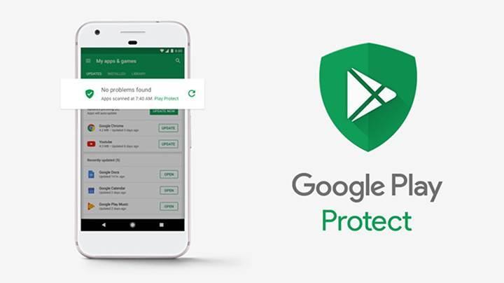 Google Play Protect, logo haline geliyor