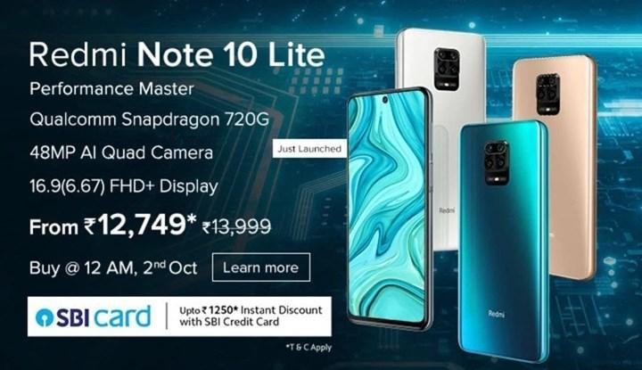 Redmi Note 10 Lite tanıtıldı