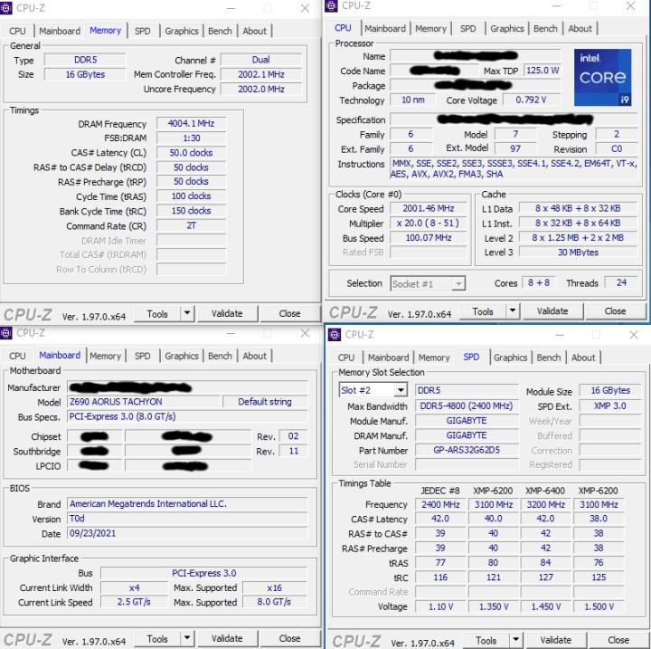 i9-12900K, DDR5 8000 Mhz bellekle görüntülendi