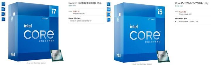 Core i9-12900K, Amazon'da listelendi