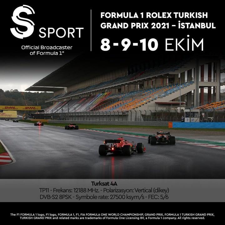 F1 Türkiye GP şifresiz olarak yayınlanacak